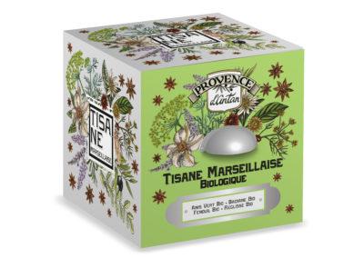BOITE METAL TISANE MARSEILLAISE CUBE - PRCM005